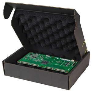 37036-CIRCUIT BOARD SHIPPER W/BLACK FOAM, 10-1/2 X 8-1/2 X 2-1/2