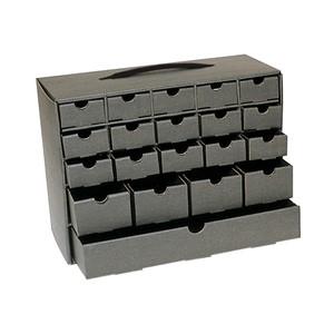 37771-TEK-CABINET, 20 DRAWERS 13-3/16 x 6 x 10 IN
