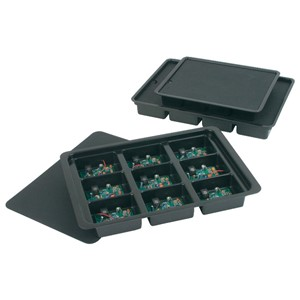 39201-KITTING TRAY, 14-1/2x10-1/8x1- 7/8  9 CELL 3-1/2x2-3/4x1-1/4