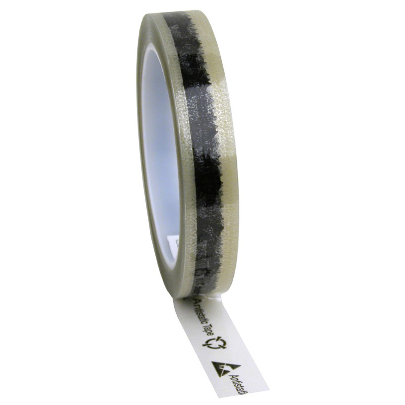 46910-WESCORP ESD TAPE, CLEAR W/ SYMBOL, 3/4INx72 YDS, 3 IN COR