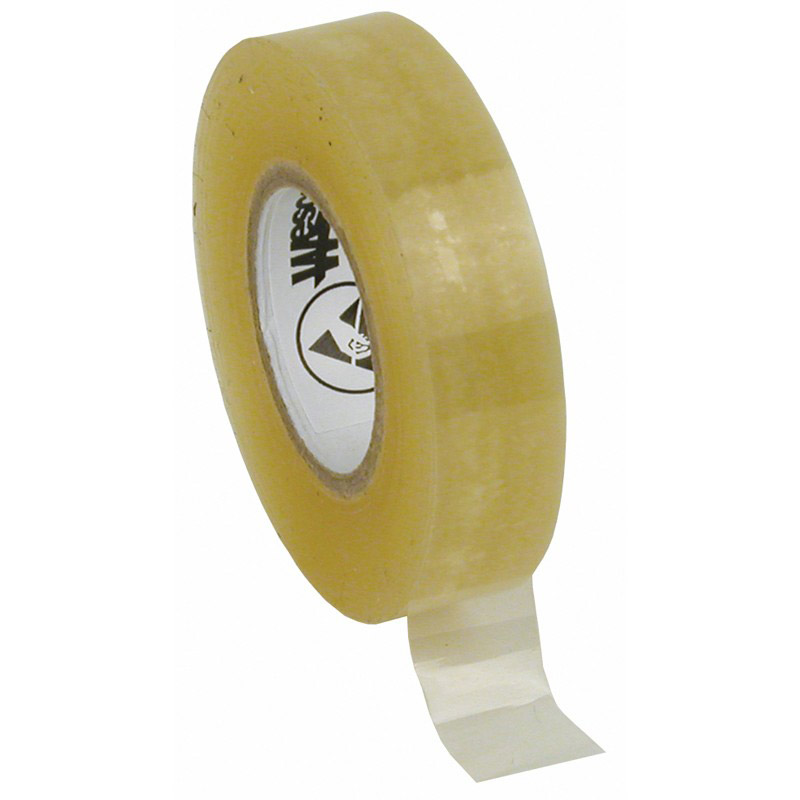 46920-WESCORP ESD TAPE, CLEAR 1/2IN x 36YDS, 1IN PAPER CORE