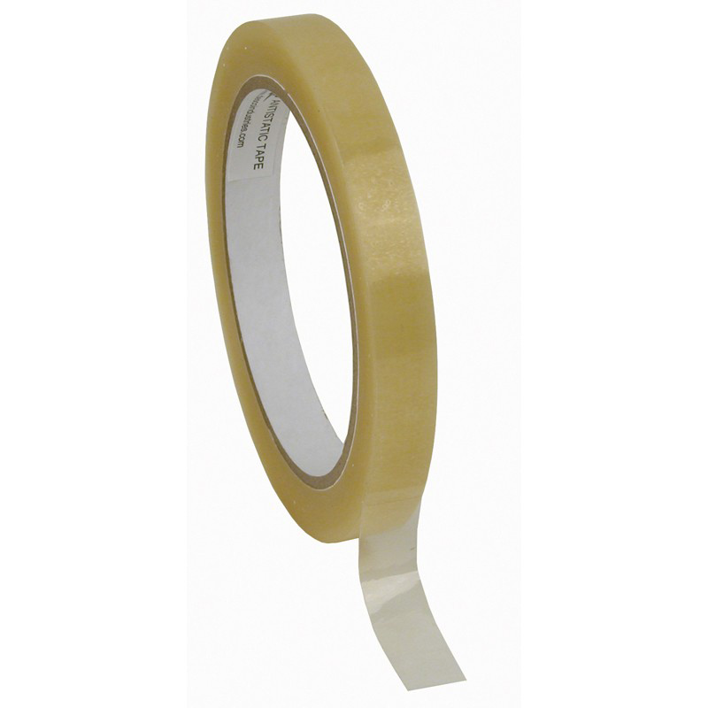 46923-WESCORP ESD TAPE, CLEAR 1/2IN x 72YDS, 3IN PAPER CORE