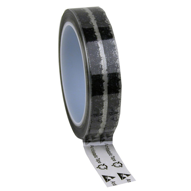 46911-WESCORP ESD TAPE, CLEAR W/ SYMBOLS, 1INx72YDS, 3 IN CORE