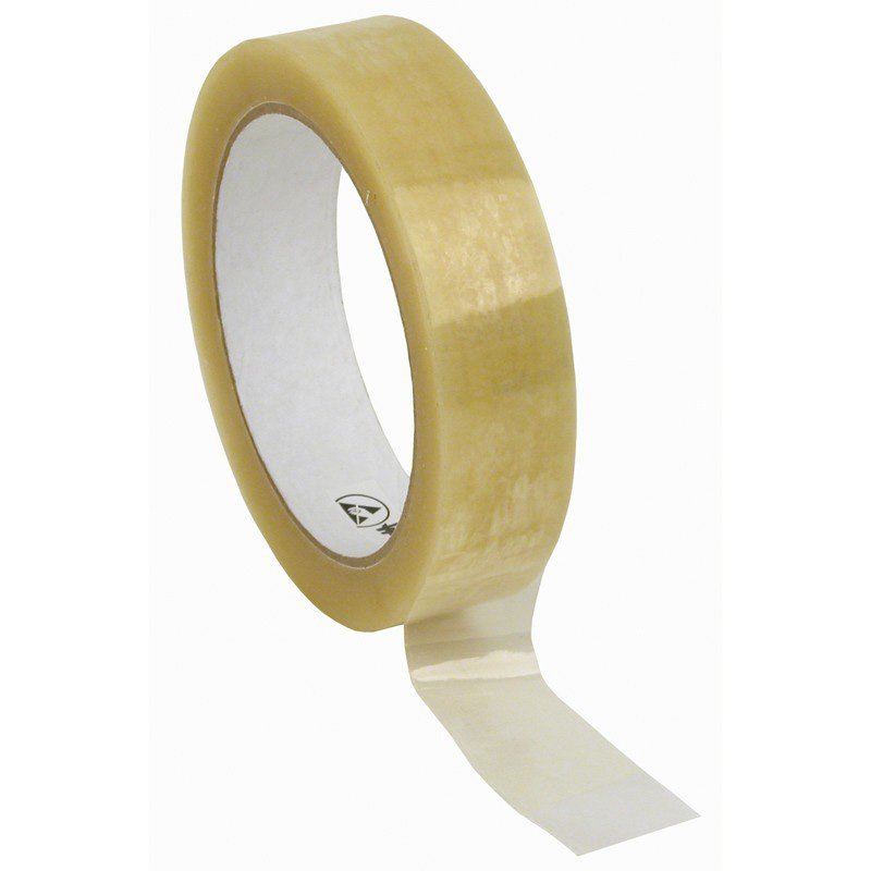 46925-WESCORP ESD TAPE, CLEAR 1IN x 72YDS, 3IN PAPER CORE