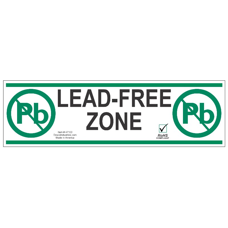 47103-TAPE, AISLE MARKING, LEAD-FREE ZONE, 3 IN x 54 FT