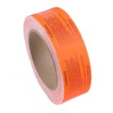 LABEL, WARNING, RED, 3 IN X 1.5 IN, 500 PER ROLL